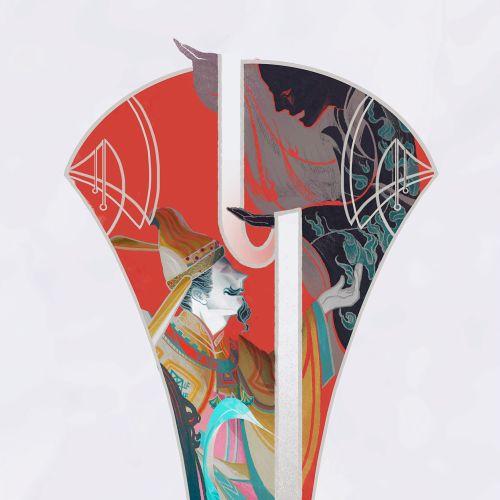 Chinese style Man illustration by Sija Hong