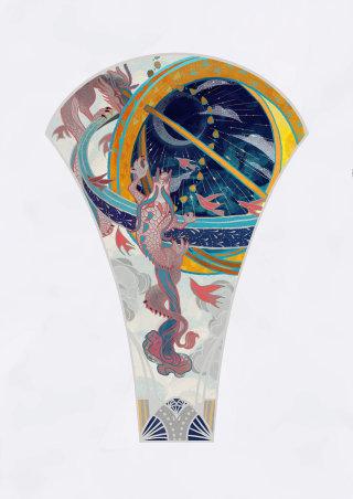 illustration on ice cream cup