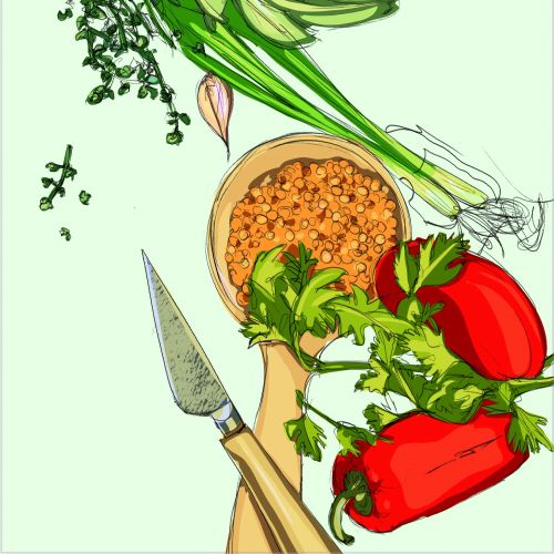 Nature vegetable illustration
