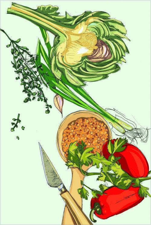 Nature vegetable illustration