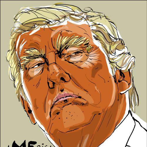 Watercolour Portrait Of Donald Trump