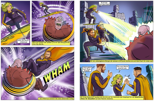 Cartoon characters comic book design