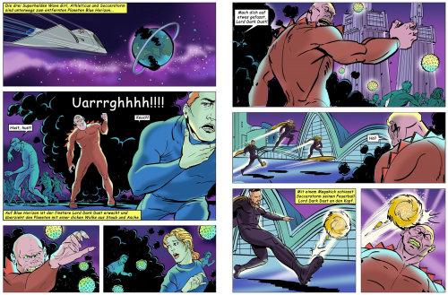 Conception d'illustration de bande dessinée