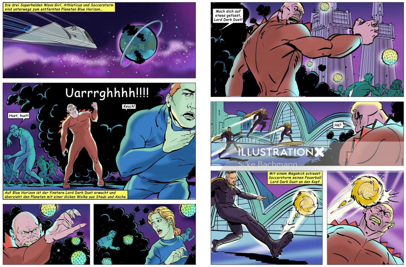 Comic book illustration design