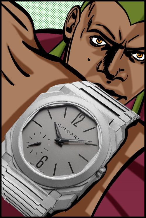 Illustration de la montre avec super-héros
