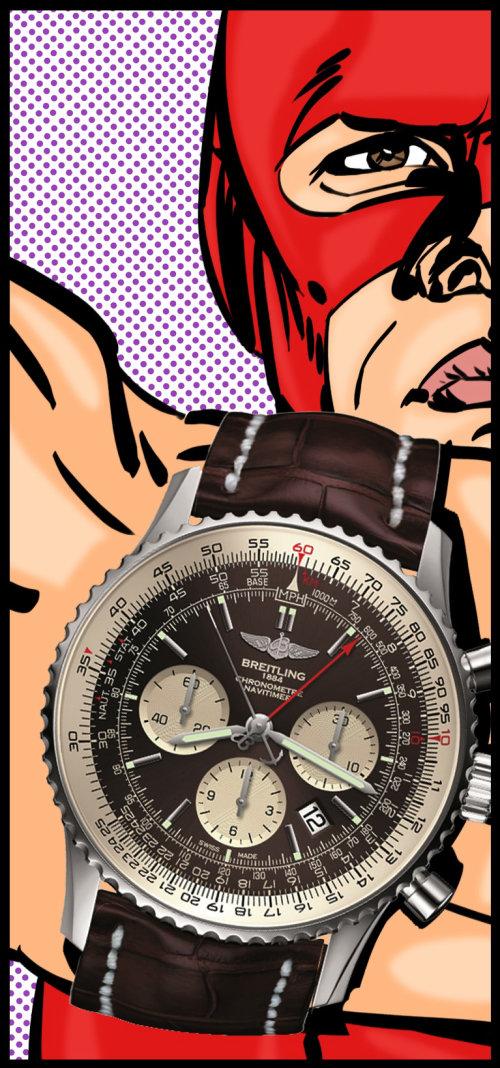 Pop Illustration Breitling watch