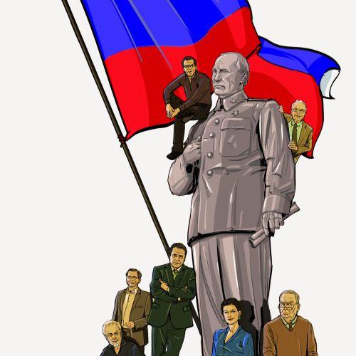 Illustration of russian poltics