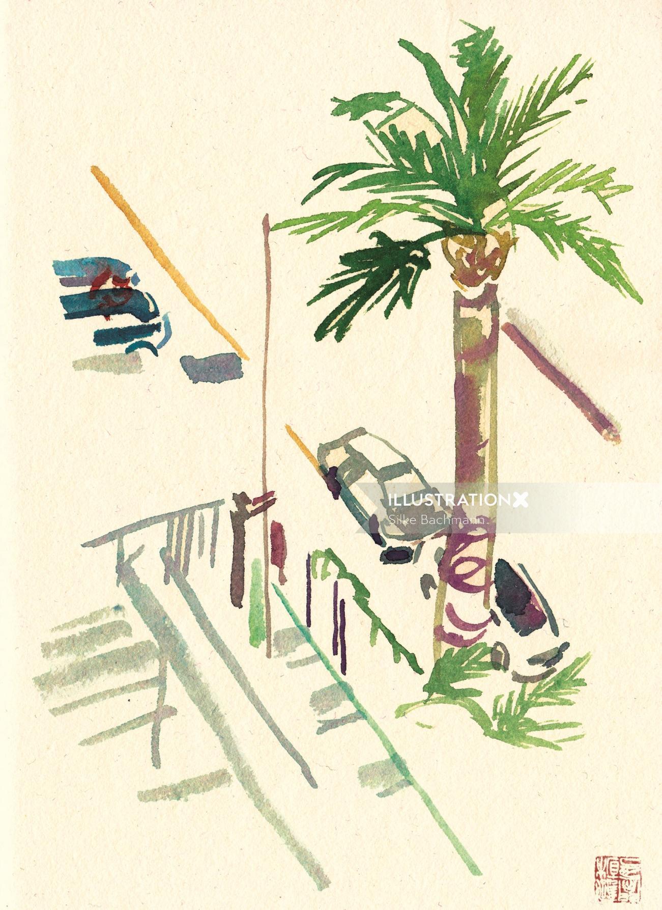 Loose street illustration