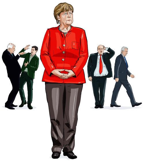 Illustration de polticiens britanniques