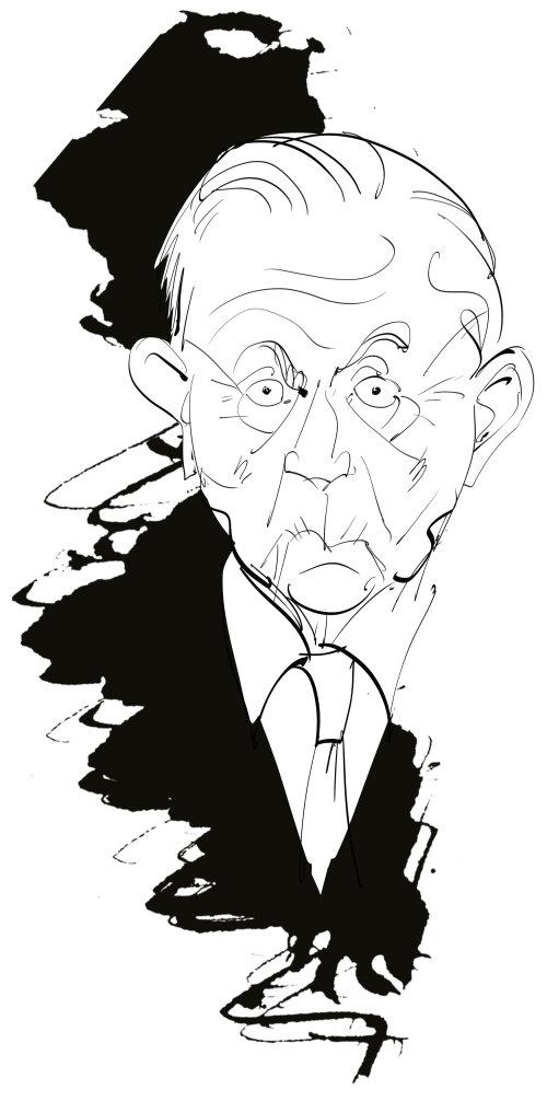 Illustration de la ligne du vieil homme