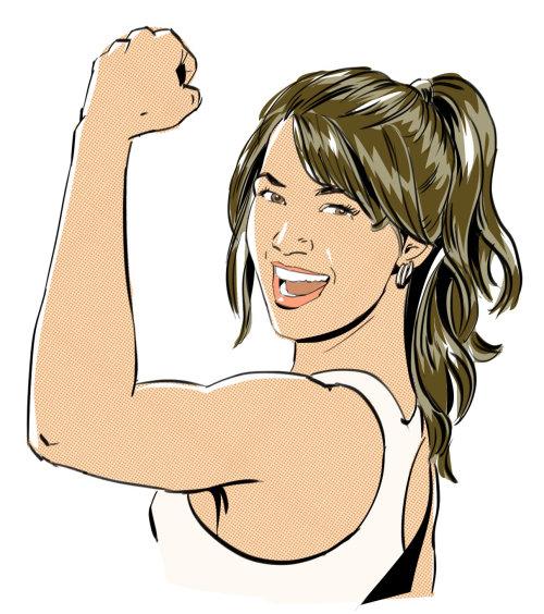 Illustration, de, femme, gymnastique