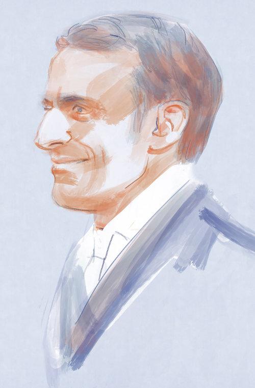 water color illustration of smiling man potrait