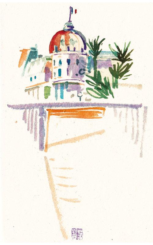 Illustration de l'architecture du palais royal