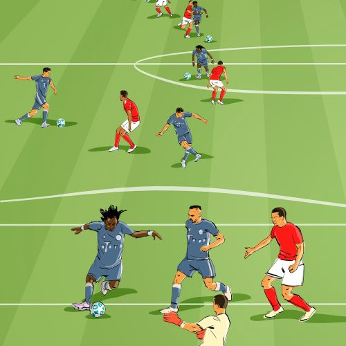 Sport&Fitness illustration of football players