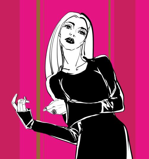 Personnes femme en robe noire