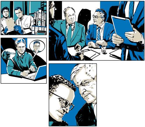 Illustration du collage de personnes