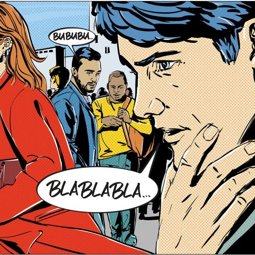 Cartoon & Humour illustration of people talking