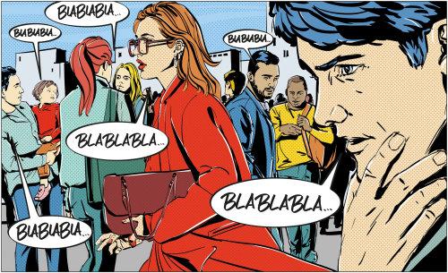 Illustration de dessin animé et d'humour de gens qui parlent