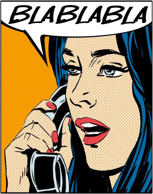Cartoon & Humour illustration of woman talking