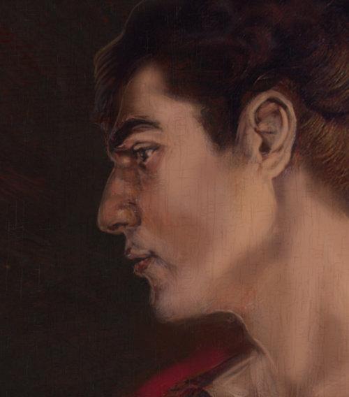 portrait d'homme dans le style de Rubens