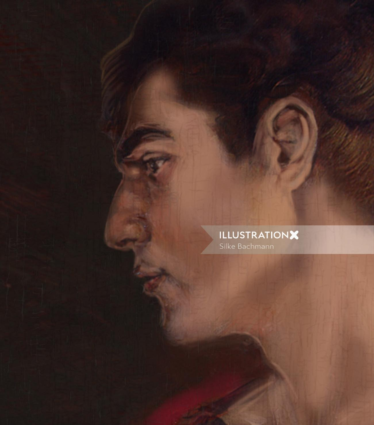 man portrait in the style of Rubens
