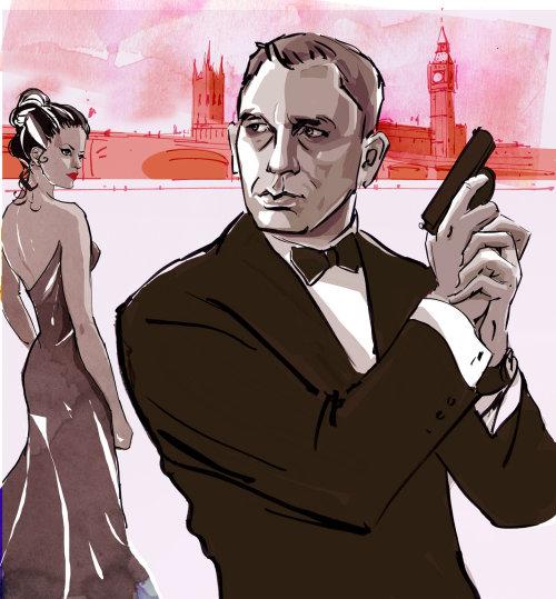 Illustration de mode de James Bond