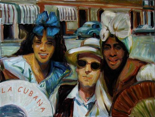 homme avec 2 femmes à La Havane