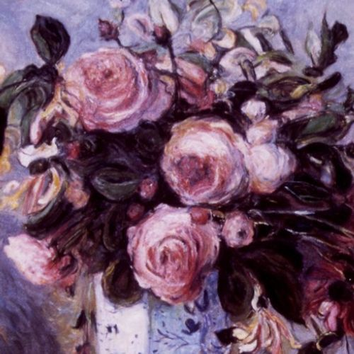 Renoir Kopie floral painterly illustration