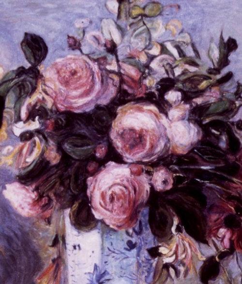Renoir Kopie illustration picturale florale