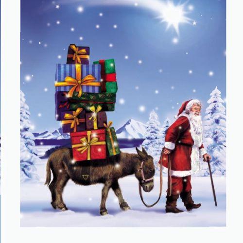 graphical illustration of Santa at Christmas