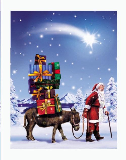illustration graphique du père Noël à Noël