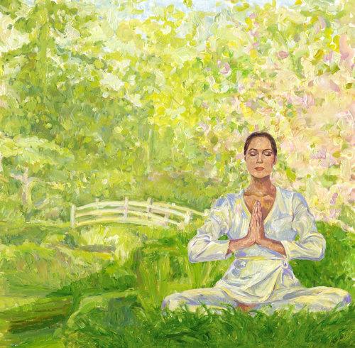 Méditation des gens dans la nature