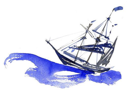 Illustration lâche du bateau