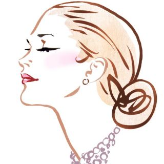 Lady fashion illustration by Silke Bachmann