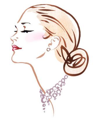 Lady fashion illustration by Silke Bachmann
