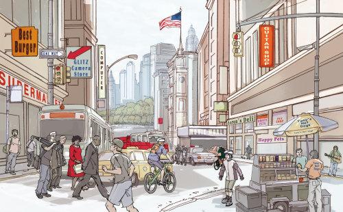 Illustration d'architecture de paysage urbain