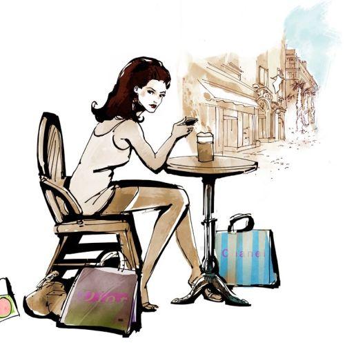 Young lady fashion illustration