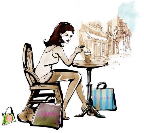 Illustration de mode jeune femme
