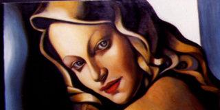 Portrait of Blondine - An illustration by Silke Bachmann