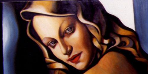 Portrait de Blondine - Une illustration de Silke Bachmann