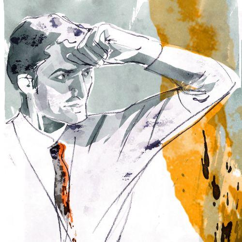 Loose illustration of man
