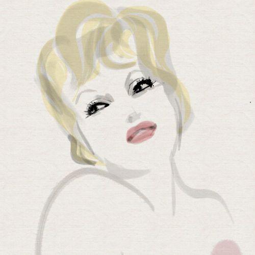 Loose illustration of fashion woman