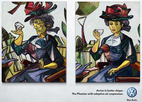 Pastiche art of a woman