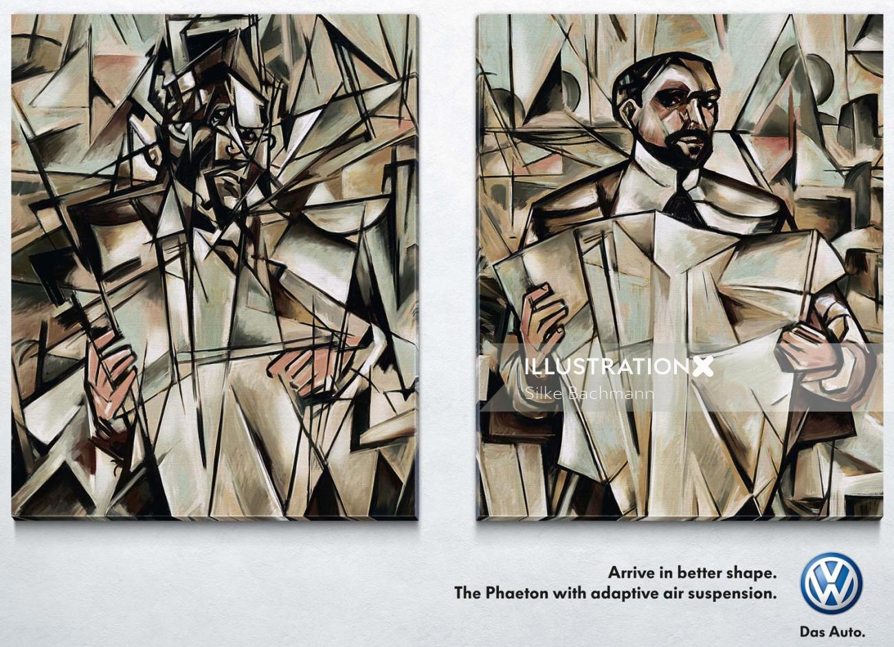 Pastiche art of a man