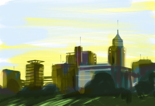 Architecture skyscrappers and buildings
