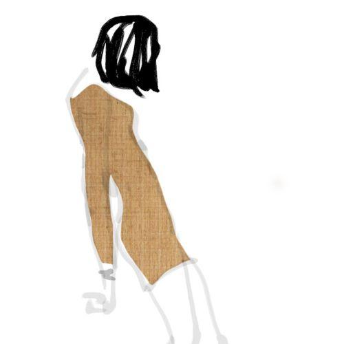 Loose illustration of fashion beauty
