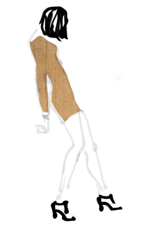 Illustration lâche de la beauté de la mode