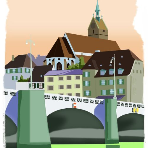 Architecture illustration of bridge