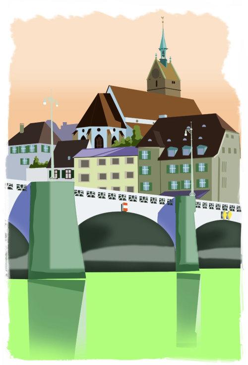 Architecture illustration of bridge
