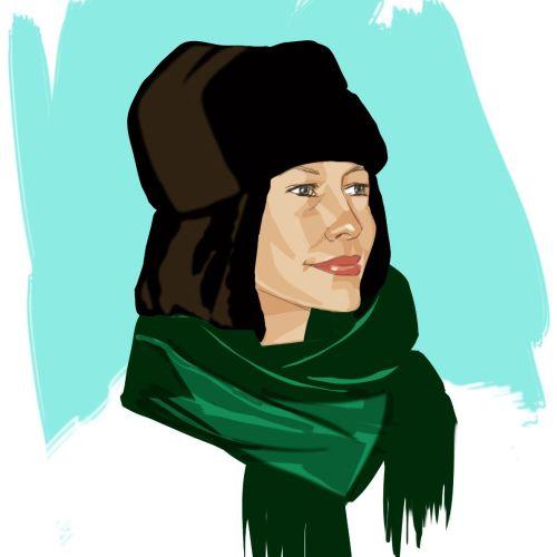 Women scarf fashion - An illustration by Silke Bachmann